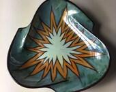 A Stunning Vintage Glazed Limoges Porcelain Trinket Ring Jewellery Dish
