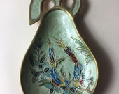 A Beautiful Vintage Pear-Shaped Trinket Ring Jewellery Dish in Solid Brass
