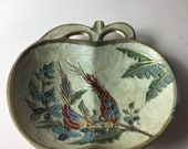 A Superb Vintage Solid Brass 39 Apple 39 Trinket Ring Jewellery Dish, Made in France