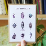 Save Crystals Card - Blank A6 Recycled - Magical Illustrations