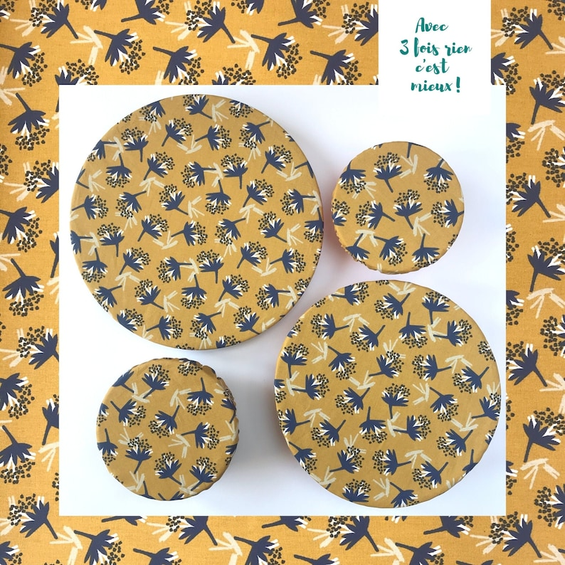 lot of food charlottes covers flat 4 sizes blue mustard yellow image 0