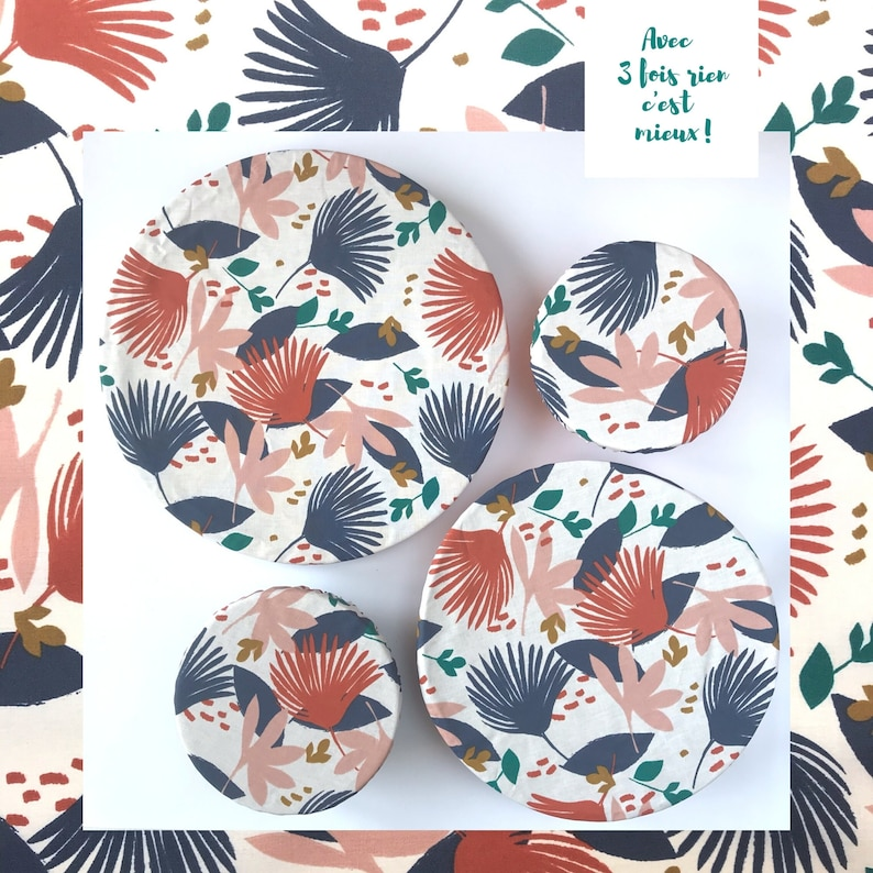 lot of food charlottes covers flat 4 sizes graphic foliage image 0