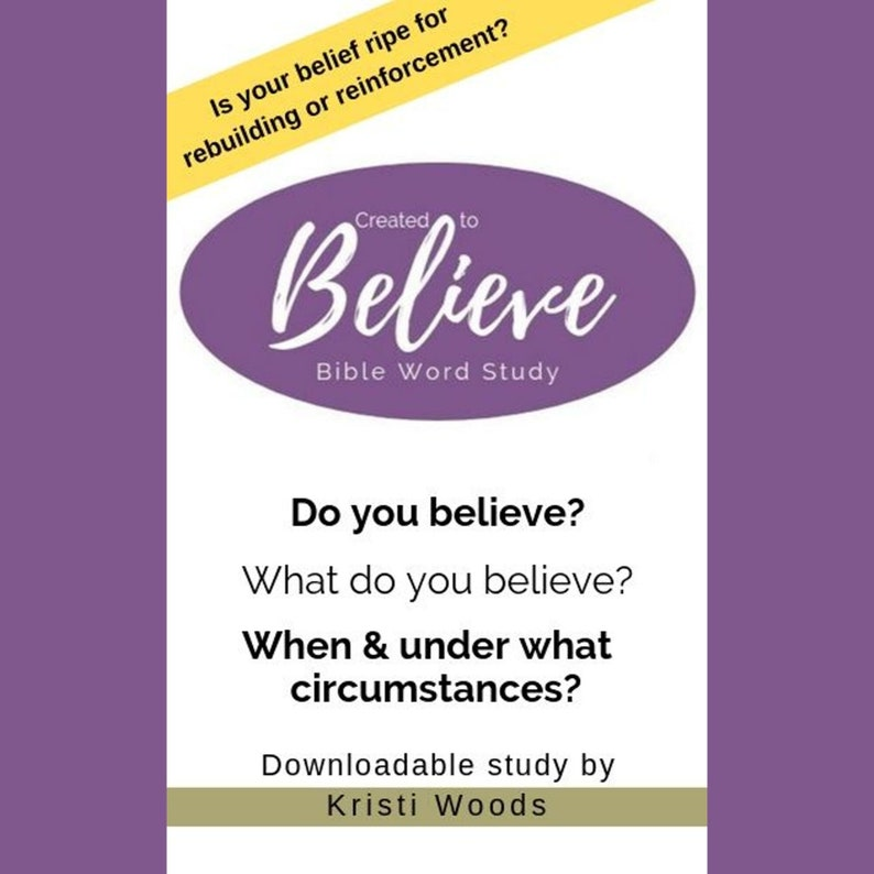 Created to Believe: A Bible Word Study image 0