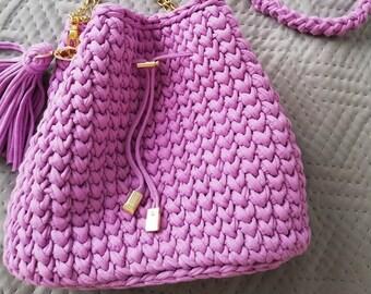 28e9d44fe3 Torebka na ramię typu Worek/Crochet borsetta, uncinetto, accessori a  maglia, crossbody bag, borsa di cotone delle donne, crochet t filato Bag,  ...