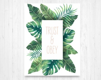 Trust and obey | Etsy