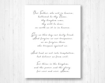 The Lords Prayer Etsy