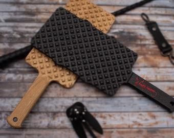 BDSM Wooden Waffle Pattern  Spanking Paddles