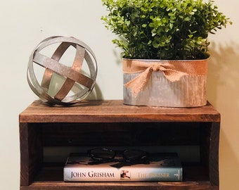 Floating Nightstand shelves, Rustic, modern hand made Farmhouse Décor