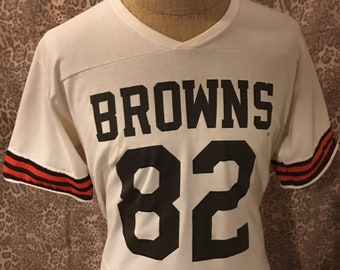 5f7b6d6ff Vintage CLEVELAND BROWNS  82 jersey NFL professional Football Baker  Mayfield Draft Dog Pound vintage Jersey size  38 Medium