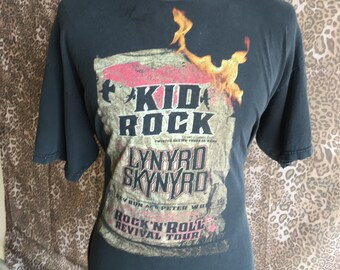 5287b74c4 Vintage Kid Rock Lynyrd Skynyrd Pop Rock' N' Roll Revival Tour Madison  Square Garden Concert double sided tee t shirt