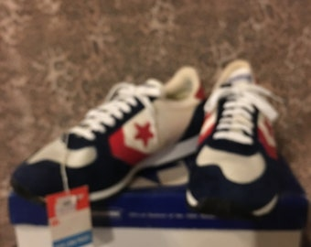 2f4a25aff758 Vintage 84 NIB Converse Olympic USA Racing Flat shoe Rare NOS Nwt size 9.5
