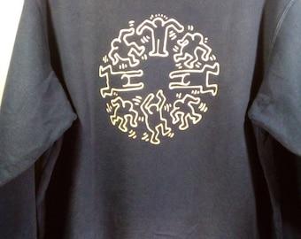 703eafb4 Vintage Keith Haring X Uniqlo sweatshirt/ jumper / pull over
