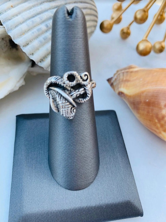 Marcasite Inlay Snake Ring