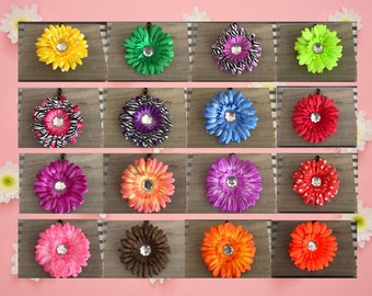 Pink Gerbera Daisy Tiki Tropical Piece Hair Clip Hair Flower PinupRockabillySpookyGhoulHorrorHair Accessories