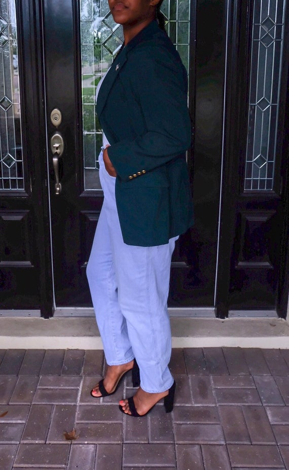 Green Oversized Blazer
