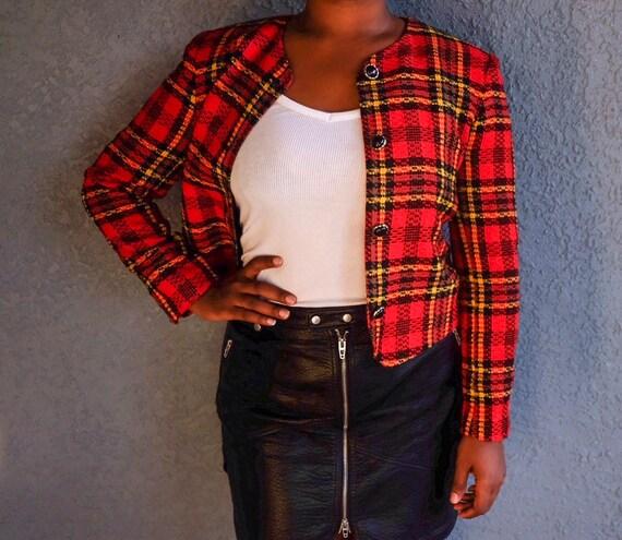 Red Checked Blazer