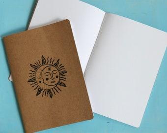 Handprinted seconds notebook/sketchbook
