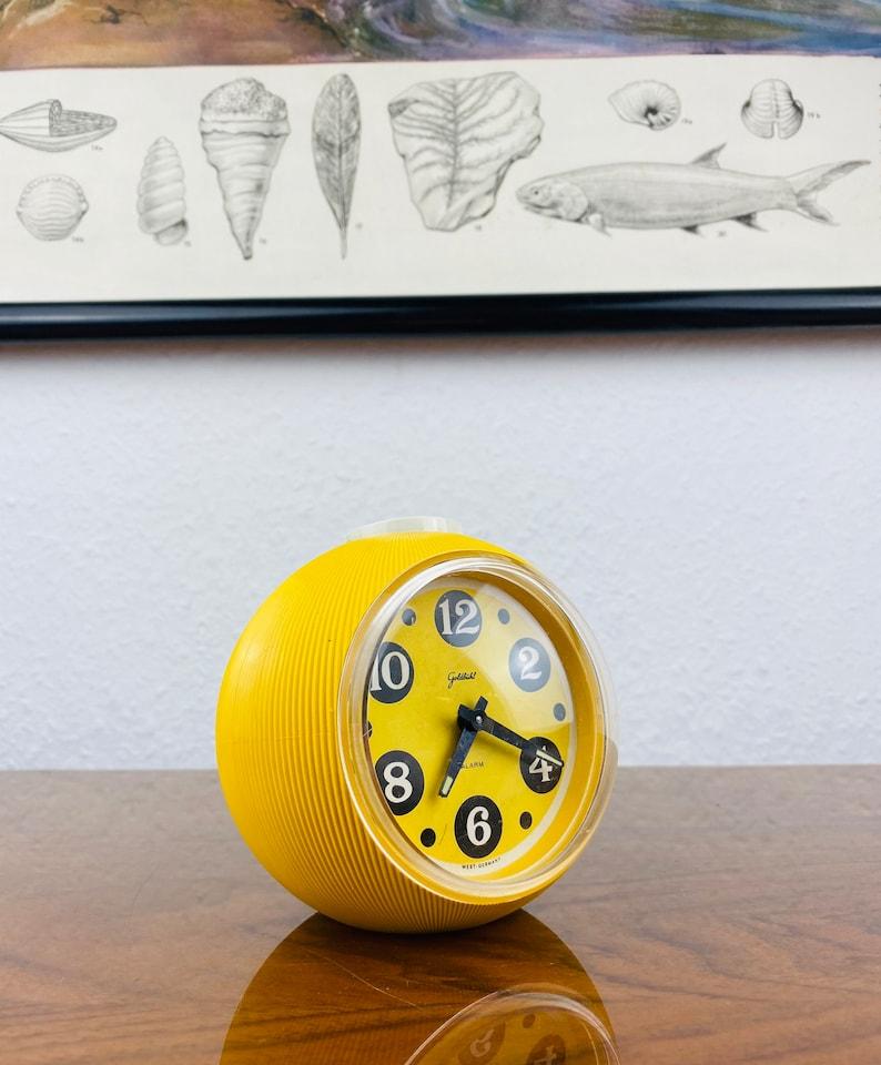 Crazy GOLDBUEHL Space Age Alarm Clock - Horloge de table avec fonction de réveil - Design allemand des années 1960 - Goldbuhl