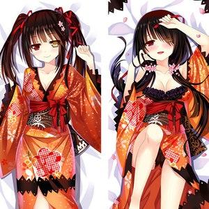 Date a Live Kurumi Tokisaki Kimono Ver 150*50 CM Dakimakura Pillow Case