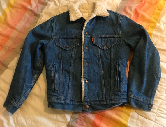 Levis denim jacket orange tag 1970s - image 5