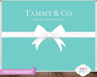 72329023955 Tiffany Inspired Custom Backdrop, Bridal Shower, Bride And Co, Wedding,  Bride, Banner, Photo Backdrop, Photography, Baby Shower, Photo Prop