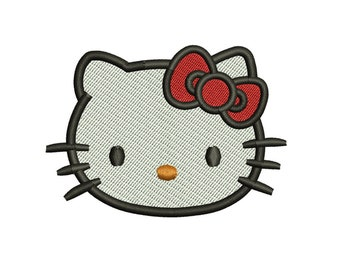 Hello kitty embroidery design etsy