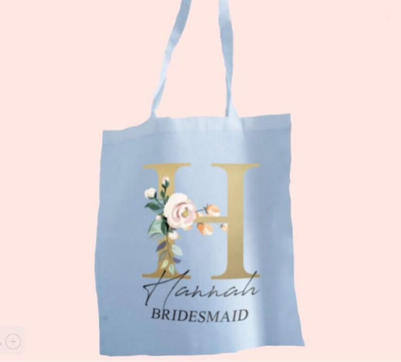 Personalised Bridal Tote Bag Bride Tote Bag Bridesmaids Gift bag