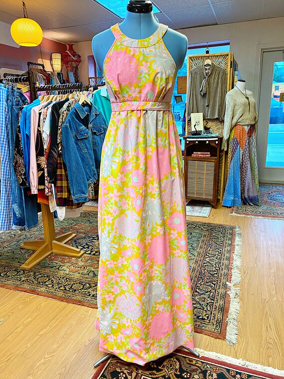 1960s Lilly Pulitzer Full Length Dress