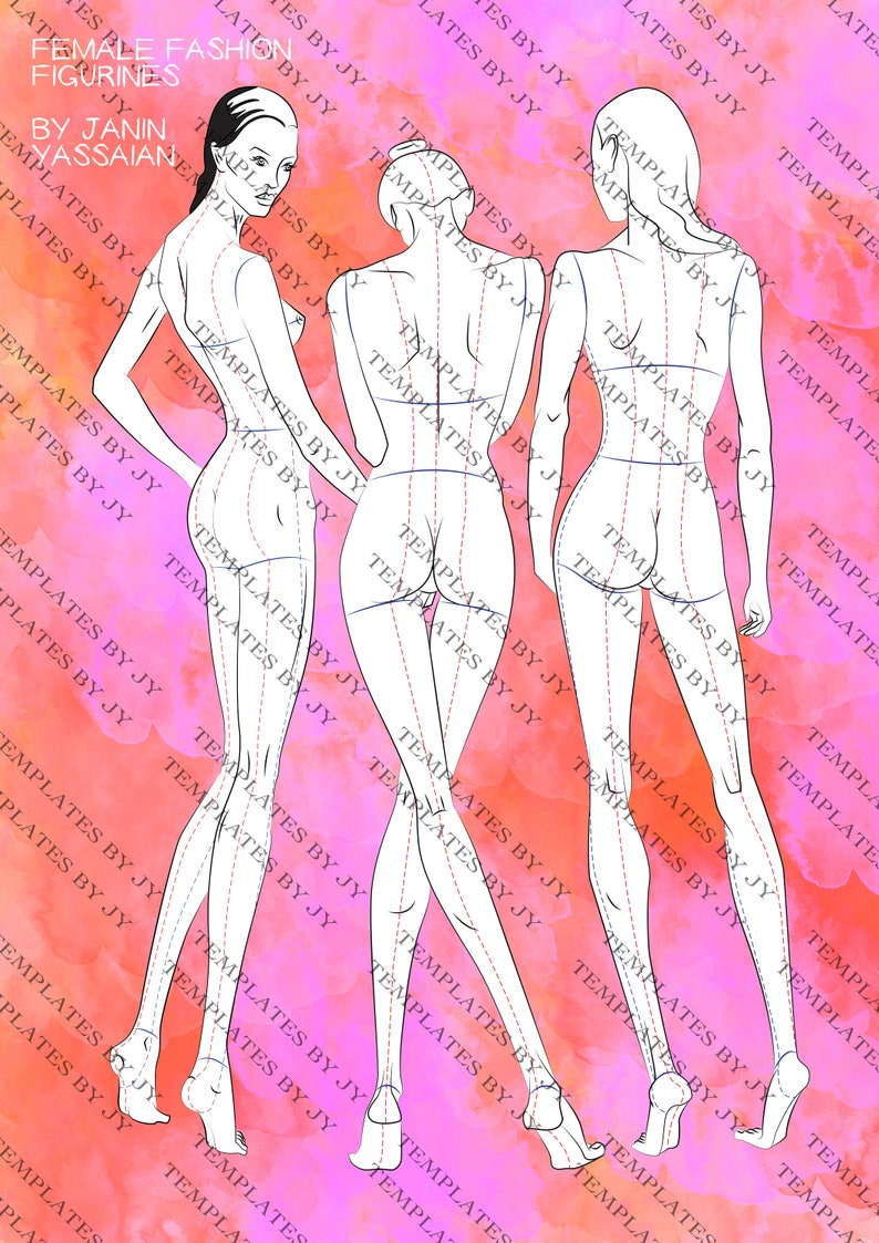 Free printable fashion croquis templates