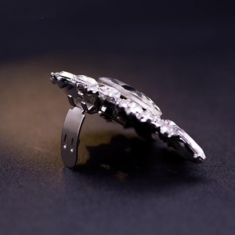 wedding Accessory Silver shoe clips Vintage Style Wedding Shoe Clips shoe jewelry Shoe bling Crystal Bridal shoe clips