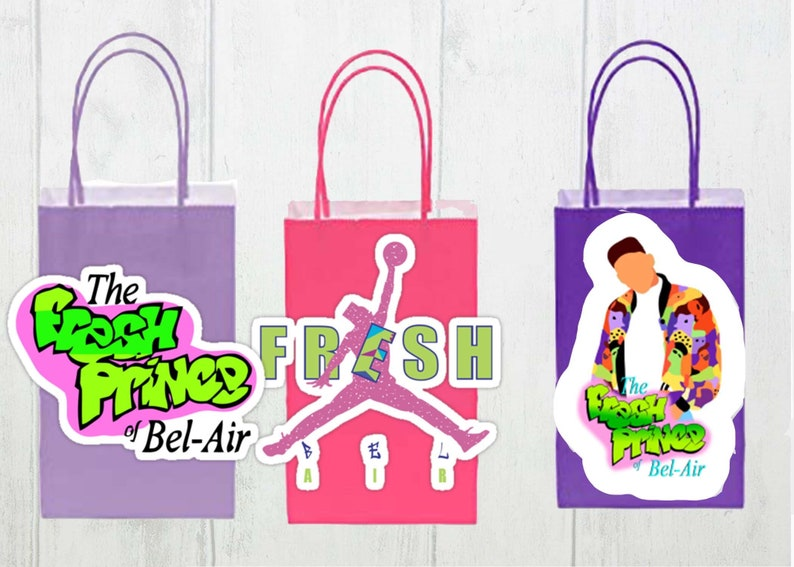 Inspired Fresh prince party bags