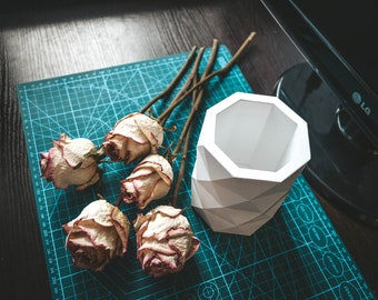 Vase SVG Planter papercraft low poly Template flowerpot DIY paper craft Pepakura PDF 3D Pattern origami sculpture model decor flower