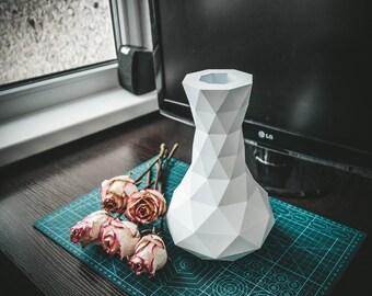 Vase Planter papercraft low poly Template flowerpot DIY paper craft Pepakura PDF 3D Pattern Download origami sculpture model decor flower