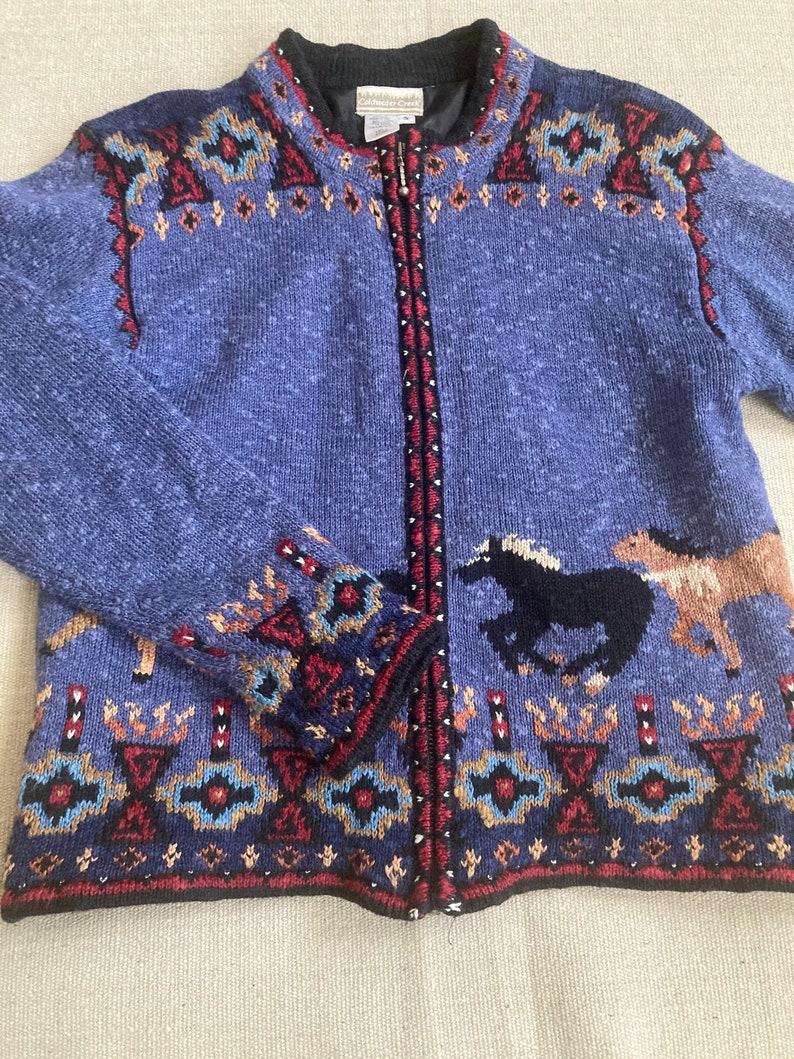 Western sweater jacket western southwest spring jacket horse lover jacket Aztec jacket