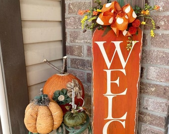 Fall Welcome Porch Sign