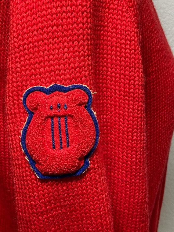 1956 authentic choir letterman's sweater 1950s le… - image 4