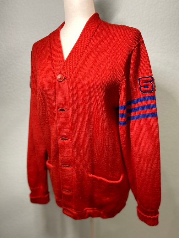 1956 authentic choir letterman's sweater 1950s le… - image 1