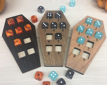 Coffin Spell Trackers with Dice