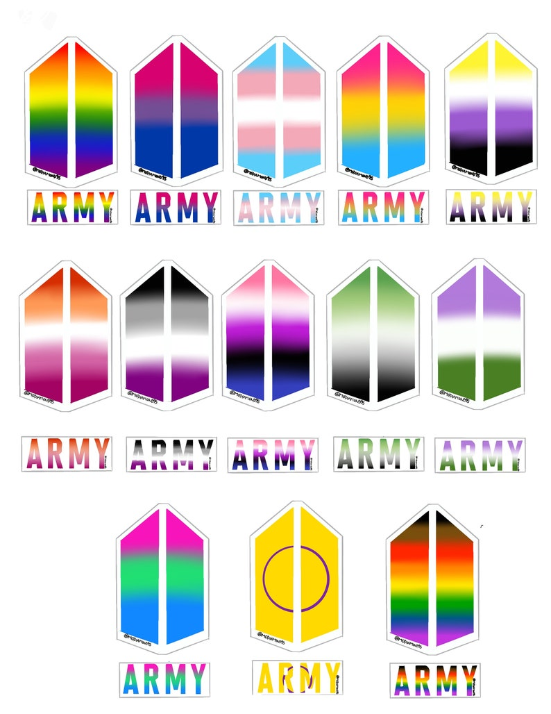 BTS ARMY Pride Flag