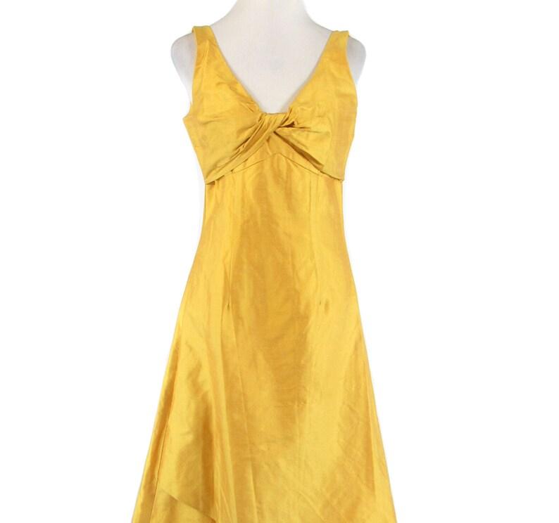 Vintage Senf gelb ärmellose Hi-Lo-Kleid-von Designs von | Etsy