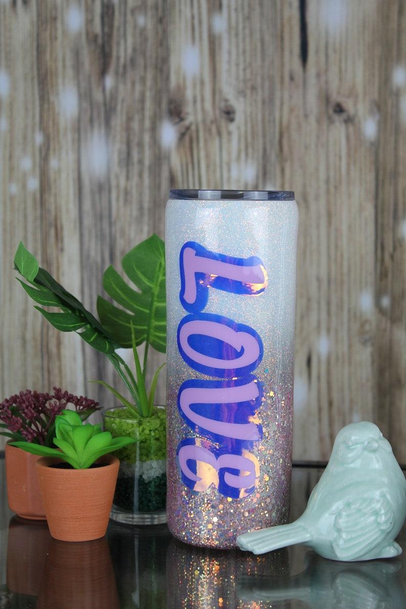 Love 20oz Glitter Skinny Stainless Steel tumbler