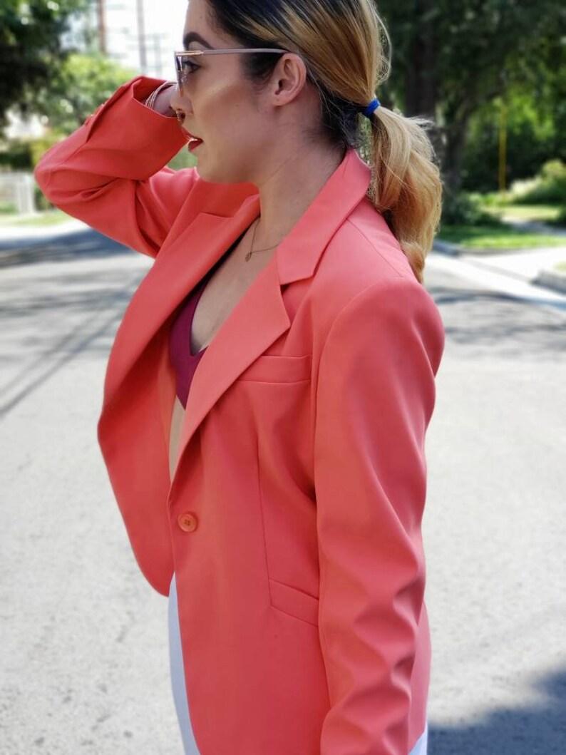 Harv\u00e9 Benard Pink suit jacket