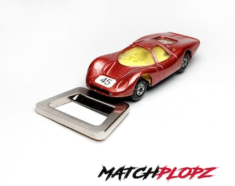 FORD Group 6 Bottle Opener Toy Car from MATCHPLOPZ vintage Retro Gift Birthday Present Friend Man red