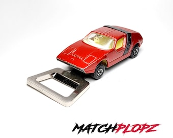 SIVA Spyder Bottle Opener Toy Car from MATCHPLOPZ vintage Retro Gift Birthday Present Friend Man red