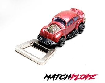 VW Beetle Dragster Bottle Opener Toy Car from MATCHPLOPZ vintage Retro Gift Birthday Present Friend Man red
