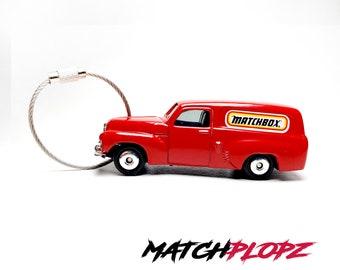 HOLDEN Van Key Chain Matchbox Toy Car from MATCHPLOPZ vintage Retro Gift Birthday Present Friend Man red