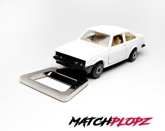 FORD Escort RS2000 Bottle Opener Toy Car from MATCHPLOPZ vintage Retro Gift Birthday Present Friend Man white