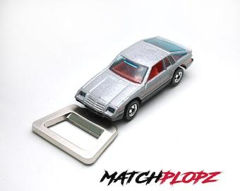 DODGE Omni 24 Bottle Opener Toy Car from MATCHPLOPZ vintage Retro Gift Birthday Present Friend Man silver