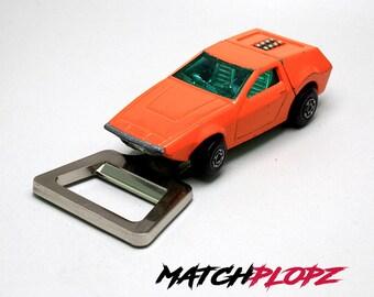 TANZARA Bottle Opener Toy Car from MATCHPLOPZ vintage Retro Gift Birthday Present Friend Man orange