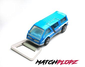 DREAM VAN Bottle Opener Toy Car from MATCHPLOPZ vintage Retro Gift Birthday Present Friend Man blue